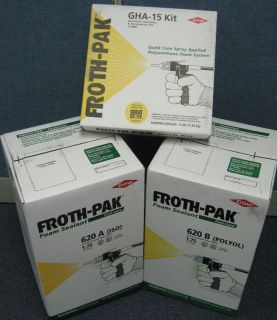 DOW Froth Pak 620 Insulating Foam Sealant 620 board ft w GHA 15 hose