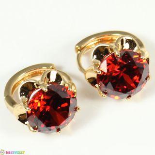 L3644 Dangle Earrings Pretty Red Garnet Silver AAA Classy Stone