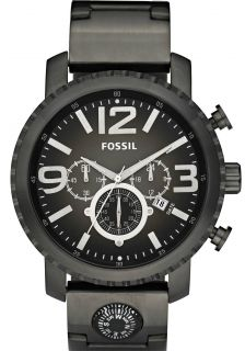 FOSSIL JR1252 CAGE PLATED SMOKE STAINLESS CHRONOGRAPH DIAL MENS WATCH