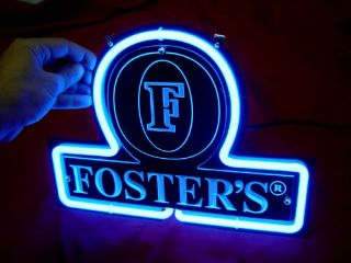 foster s beer bar neon light sign