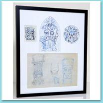 you are bidding on zuma s revenge tiki gods original concept sketch on