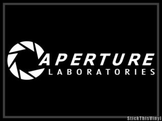 Aperture Lab Half Life Video Game Decal Sticker 2X
