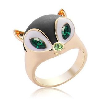 Fashion Artificial Diamond Lovely Fox Ring Gifts Accessories