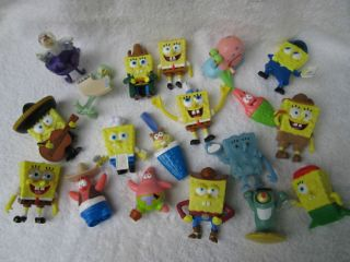 Spongebob Gary Plankton Sandy Burger King Toy Lot 36