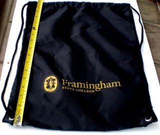 Framingham State College Logo Bag Gym Sling Black New
