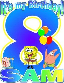 Its My Birthday Spongebob Gary Patrick T Shirt Decal