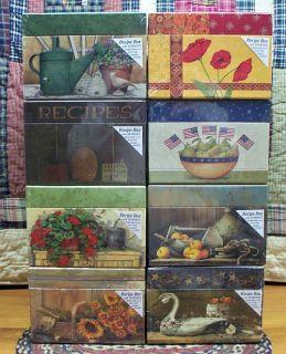Primitive Recipe Box 50 Recipe Cards Assorted Styles