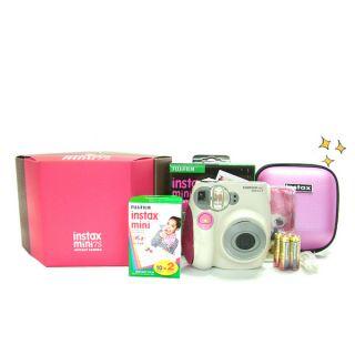 Fuji Instax Mini 7S Instant Camera Pink Gift Set Free Case Album