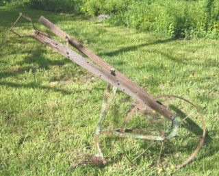 Two Antique Vintage Farm Garden Cultivators Tillers