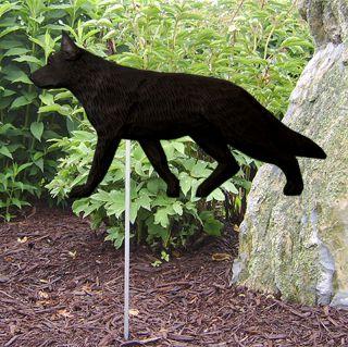 German Shepherd Outdoor Garden Dog Sign Figure Blk