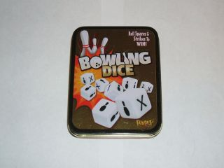 Bowling Dice Very Fun Family Game Fundex 2010 Complete Metal Tin Great