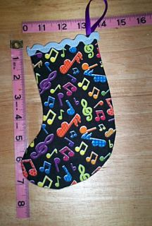 10 192 Handmade Funky Music Christmas Stocking Ornament