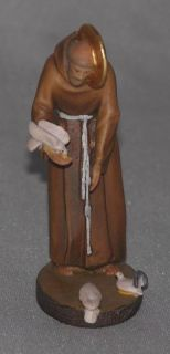 New Saint Francis Assisi Statue Hand Carved Wood Lepi