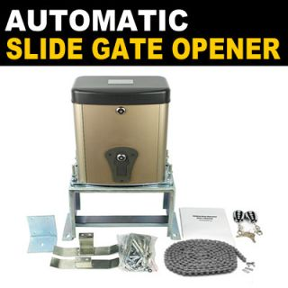 New Mtn Gearsmith Automatic Slide Gate Opener Operator Kit w Remote