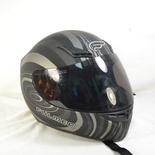 Fulmer Maelstrom Full Face Motorcycle Helmet Black Silver Medium