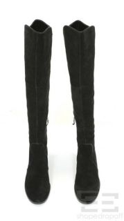 Franco Sarto Black Suede Over The Knee Tripod Boots Size 8M New