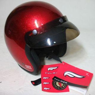 Fulmer V2 XL Open Face Bobber Helmet Motorcycle Retro Design Red New