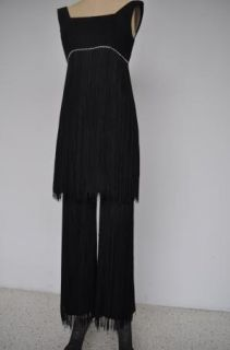Vtg 20s Gatzby Roaring 20s Drop Waist Flapper Dress Sequins Chiffon