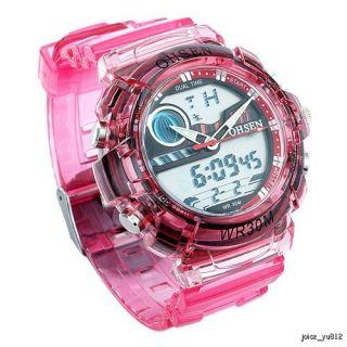 Pink OHSEN Multi Function Ladies Sport Wrist Watch
