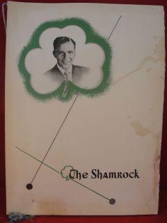 Original 1950 Shamrock Restaurant Hotel Menu Hand signed Frank Sinatra