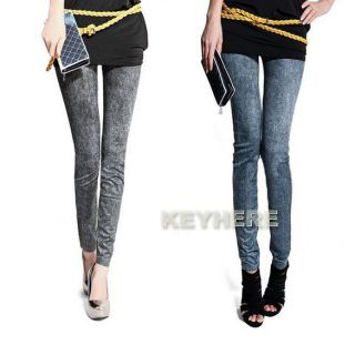 New Lady Snowflake Sexy Jeggings Stretch Skinny Legging Tights Pencil