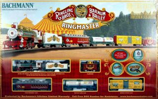 Bachmann HO Scale Train Set Analog Ringling Brothers Circus Ringmaster