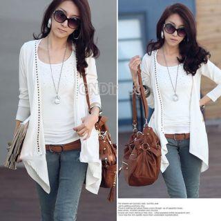 New Fashion Korea Women Long Sleeve Cotton Blends Coat Jacket 3 Colors