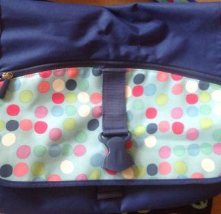 Pottery Barn Teen Gear Up Blue Dot Messenger Bag