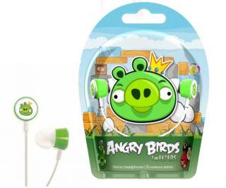 GEAR4 Angry Birds In Ear Stereo Headphones   Green Pig Tweeters