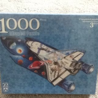 New FX Schmid 1000 Piece Shaped Space Shuttle Puzzle Sealed Gerold