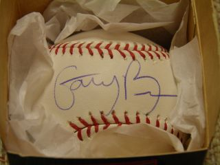 GARY BROWN SAN FRANCISCO GIANTS AUTO OFFICIAL MAJOR LEAGUE BASEBALL W