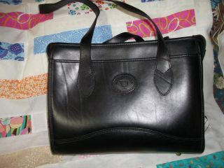 New Michael Green Black Leather Satchel Purse Hand Bag