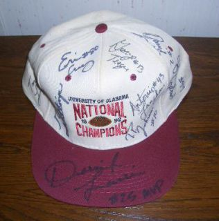 Football Championship Autographed Hat Gene Stallings Duece 7 Others