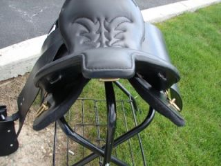 17 Special Trooper Saddle Black Gaited Endurance Trail Smooth Leather