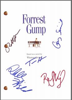 Gump Signed Movie Script by 5 *Tom Hanks *Gary Sinise *Robin Wright