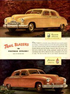 1946 Full Color Advertisement for Post War Kaiser Frazer Cars