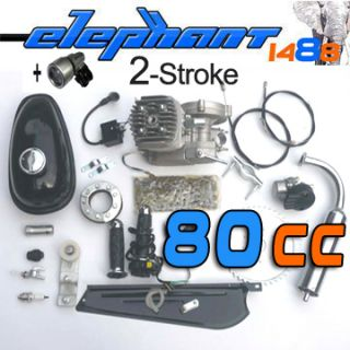 80CC 2 Stroke Bike GAS Engine Kits Motor Motorized cycling carburetor