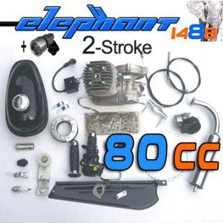80CC 2 Stroke Bike GAS Engine Kits Motor Motorized cycling carburetor