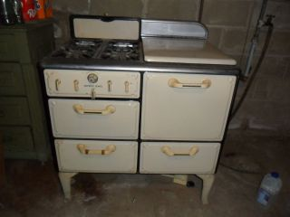 1930s Detroit Jewel Porcelain Gas Cook Stove