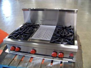 PRO STAINLESS 4 BURNER GRILL NATURAL GAS RANGETOP COOKTOP 43 OFF MSRP