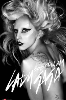 61 cm (36 x 24 inches)   Lady Gaga   Born this Way   New Music Poster