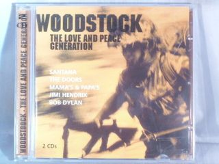 WOODSTOCK THE LOVE AND PEACE GENERATION 2 CD JIMI HENDRIX BOB DYLAN
