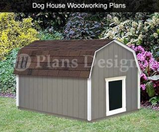 Large Dog House Plans Gambrel Barn Roof Style 90304B Pet Size Up to