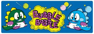 Bubble Bobble Retro Arcade Game Marquee 10 Sticker Classic Gaming