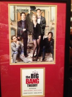 THEORY CAST AUTOGRAPH 2 ALL 5 KALEY CUOCO JIM PARSONS JOHNNY GALECKI