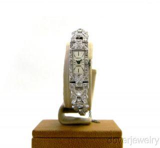 Vintage Geneve Diamond Art Deco Platinum Ladies Watch