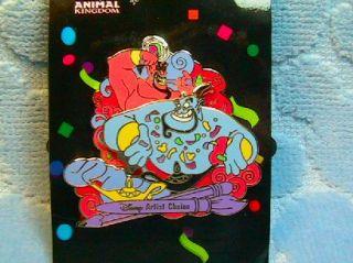 Genie Jafar Mickeys Parti Gras Artist Choice Spinner Pin Disney Pins