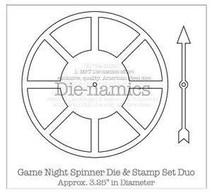 My Favorite Things Game Night Spinner Die Namics MFT Bonus Clear Stamp