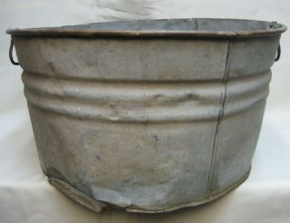 60Year Old Galvanized Steel Wash Tub ex Historic winery rustic planter