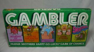 RARE GAMBLER BOARD GAME 1975 DICE CARD CASINO FUN